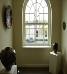 Gallery window with pottery